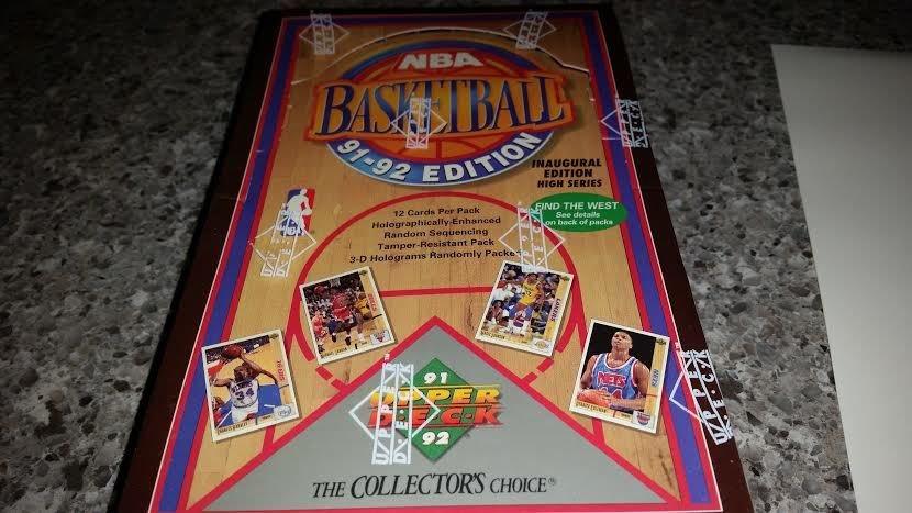 1991-92 UPPER DECK BASKETBALL HIGH SERIES BOX POSS JORDAN CARDS+JERRY WEST AUTOS