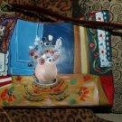 CUSTOM Matisse handbag purse RED pocketbook SHOULDER BAG hand painted still life