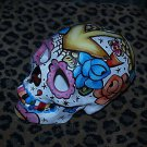 Custom Day of the DEAD SKULL Sailor Anchor Rose NAUTICAL STAR skull head DOD