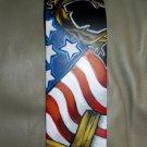 TATTOO Leather Guitar strap Patriotic American FLAG Christian ROCK Jesus cross