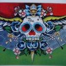 Ltd. Ed s/n Tattoo Day of the Dead PRINT Skull 8x10