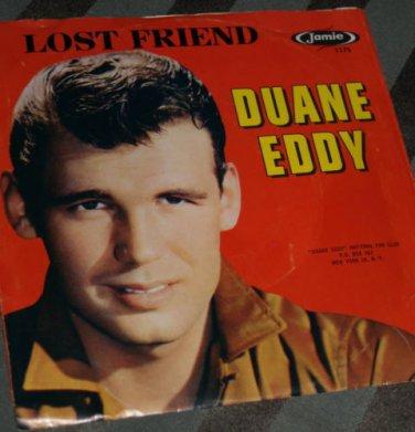 Vintage DUANE EDDY 45 record Lost Friend & PePe Twangy