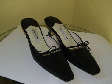 Women's Lila Almario leather Mules shoes custom Phillipines designer 5 1/2 used