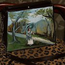 TATTOO handbag purse MATISSE pocketbook painting RARE~