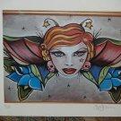 Ltd. Edition PRINT s/n Tattoo pin up print butterfly