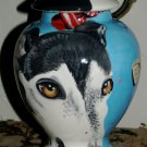 Custom ANY BREED Pet DOG urn cremation GREYHOUND dog hand painted one of a kind