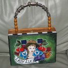 TATTOO handbag purse box LADY LUCK Sailor CHERRIES GIRL