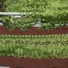 VINTAGE trim 2 Yds GREEN tassle fringe 35 yrs old
