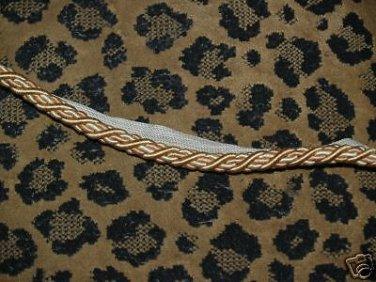 ITALIAN Designer cording trim 1 1/4 YARDs GOLD PEACH