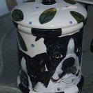 Tattoo DOG canister Cookie Jar Boston Terrier X lrg
