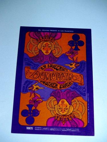 Bill Graham Nicholas Kouninos Donovan postcard FILLMORE H.P. Lovecraft RaRe