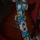 TATTOO Leather Guitar strap SKULL Day of the dead strap DOD punk custom strap
