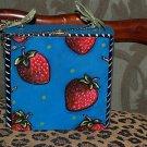 TATTOO handbag purse box sailor STRAWBERRIES strawberry