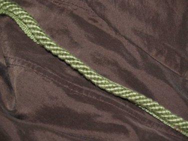 GREEN Designer cording trim 2 1/2 yards Elegant RARE