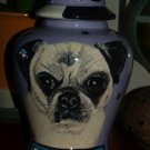 Custom SMALL Pet urn for small breed pug pugs ashes ash cremation jar memorial