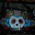 TATTOO handbag purse DAY of the DEAD Skull sailor Kahlo custom handmade tattoos