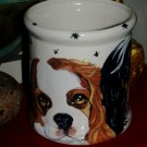 Tattoo Custom Ceramic DOG TREAT Cookie Jar King Charles Spaniel any breed unique