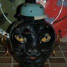 Custom Memorial urns CERAMIC SMALL Pet urn black CAT ashes ash Cats cremation
