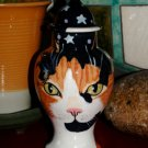 Custom CERAMIC SMALL Pet urn for CAT ashes orange Calico PETS Cats ALL breeds