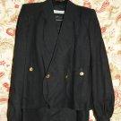 Vintage Womens Sonia Rykiel suit blazer skirt 2 pc set France Sz 40 Viscose Blk