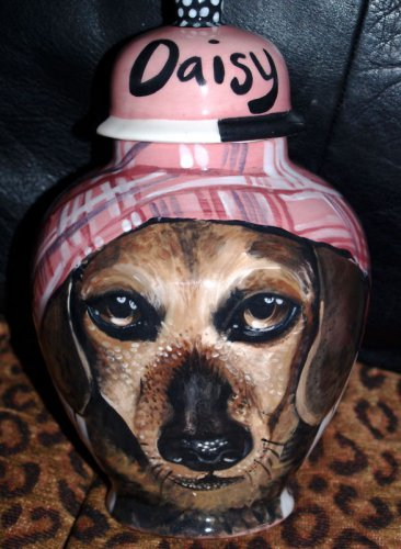 Custom Pet urn for ashes SMALL DOG Dachshund ANY BREED