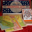 Vintage GAME 30's United States Geographical Lotto RARE