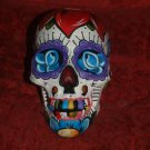 Custom hand made Day of the DEAD SKULL swallow roses dagger solid eyes DOD Rose