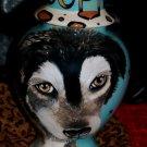 Custom memorial Pet DOG Cat cremation urn HUSKY Large