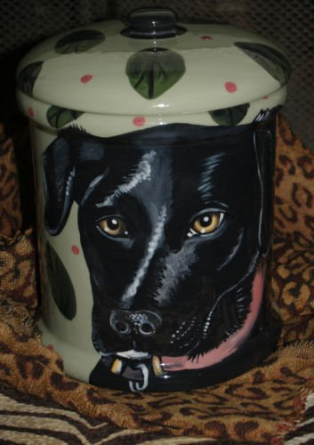 Custom memorial Pet DOG black labrador cremation urn all breed types portrait