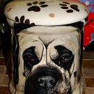 Custom memorial Pet DOG mastiff bull cremation urn all breed types portrait jar