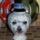 Custom Portrait MEMORIAL Pet URN DOG any breed BIJON cremation ASHES poodle