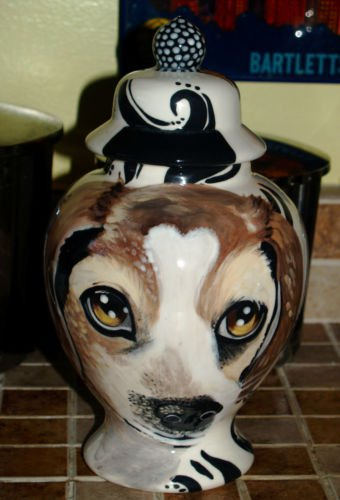 Custom Portrait MEMORIAL Pet URN DOG any breed cremation ASHES burial beagle