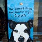 Custom hand painted portrait memorial X LARGE Wood box Pet URN pit bull bull dog