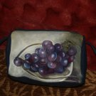 Artist pleather handbag purse pocketbook okeefe GRAPES  still life hand painted
