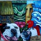 CUSTOM TIKI dog Portrait pet portrait of your dogs cat 8 x 10 CANVAS parrot rat