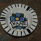Vintage tattoo sailor ceramic ASHTRAY flower RARE !