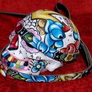 Tattoo blk Leather DOG Leash ANCHOR SKULL ROSE heart SAILOR 6 ft long! 3/4 wide