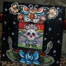 TATTOO frame sailor SKULL Day of the dead FRAME Kahlo