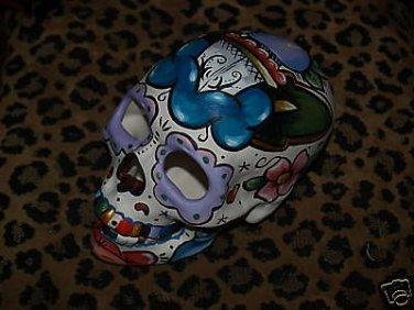TATTOO Day of the DEAD SKULL Sailor Rose Dagger Skulls DOD Mexico hand painted