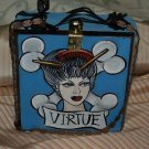 TATTOO handbag purse box crossbones Vintage Sailor GIRL