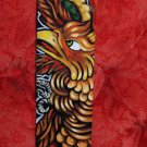 TATTOO Leather Guitar strap Asian PHOENIX adjustable