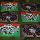 8 Tattoo Day of the Dead Skull and pin up Postcards