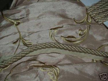 ITALIAN Designer cording trim 1 1/2 YARDs beige cream