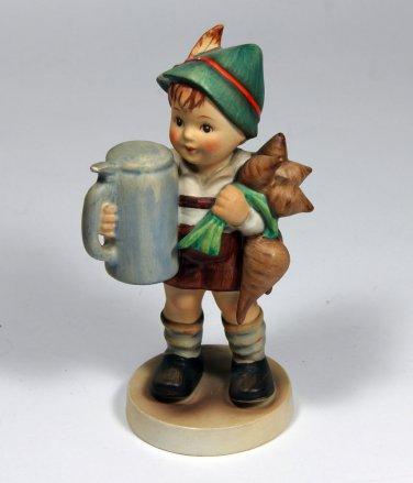 Antique Hummel Figurine German Boy Holding Beer Turnips full large bee V old 87