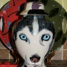Custom memorial Pet DOG cremation urn White HUSKY Medium/Large Any type of pets