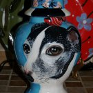 Custom ANY BREED Pet DOG urn cremation GREYHOUND dog hand painted portrait ASHES