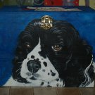 Custom hand painted portrait memorial LARGE Wooden box Spaniel urn any Pet URN