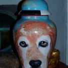 Custom Portrait MEMORIAL Pet URN DOG cremation ASH Hand Painted hound retriever