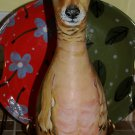 Hand PAINTED Bowling Pin URN dog portrait smaller ANY BREED memorial Dachshund