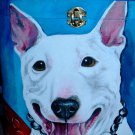 Custom hand painted portrait memorial LARGE Wood box terrier pit bull any breed